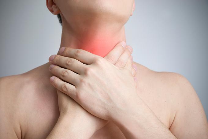 Rak gortani simptomy