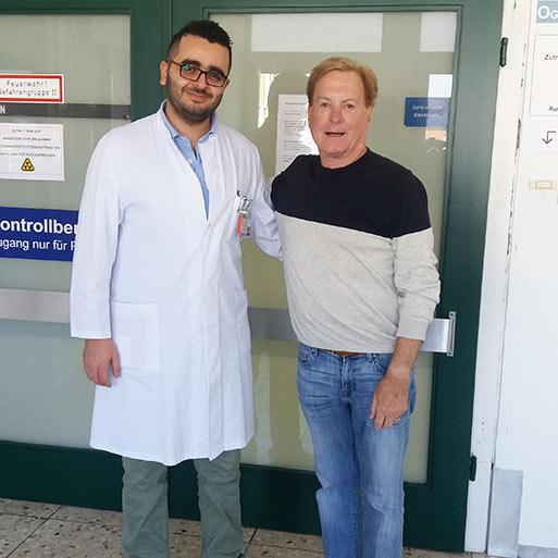 الدكتور في الطب ميشيل الغزال، مستشفى جامعة سارلاند هومبورغ، أوكتوبر 2018