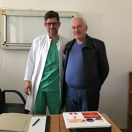 البروفيسور دكتور الطب بيتر ألبيرس، مستشفى دوسلدورف الجامعي، أيلول 2017
