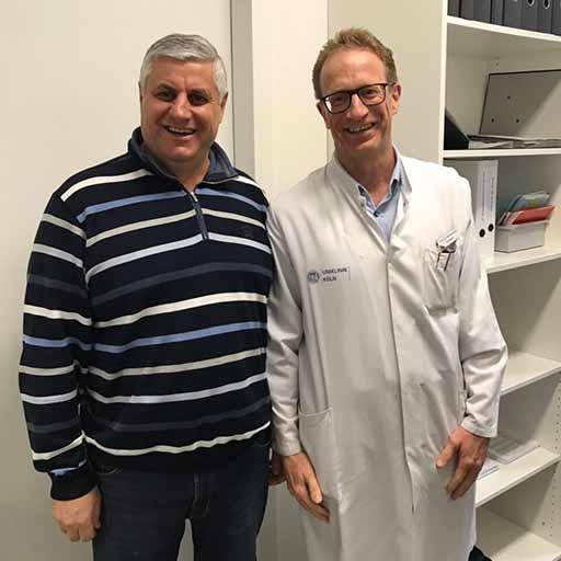 البروفيسور الجامعي الدكتور آكسل هايدينرايش، مستشفى كولونيا الجامعي، نوفمبر 2017